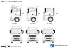 MAN TGX Cab Variations