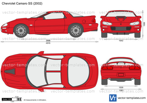 Templates - Cars - Chevrolet - Chevrolet Camaro SS