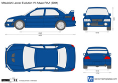 Mitsubishi Lancer Evolution VII Advan PIAA