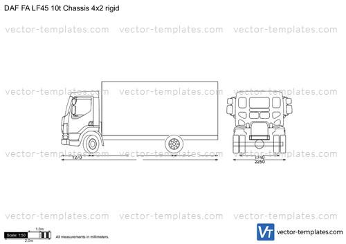DAF FA LF45 10t Chassis 4x2 rigid