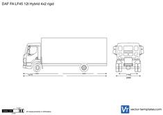 DAF FA LF45 12t Hybrid 4x2 rigid