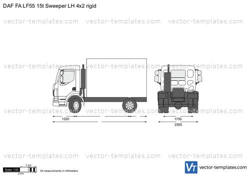DAF FA LF55 15t Sweeper LH 4x2 rigid