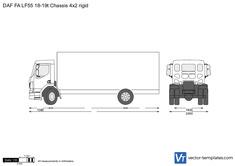 DAF FA LF55 18-19t Chassis 4x2 rigid