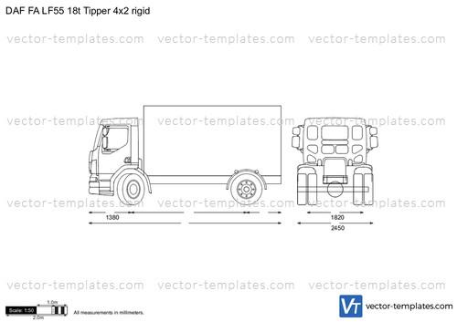 templates - trucks - daf
