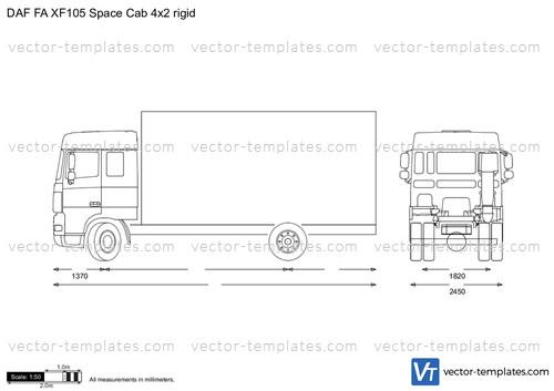 DAF FA XF105 Space Cab 4x2 rigid