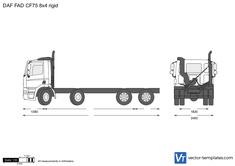 DAF FAD CF75 8x4 rigid