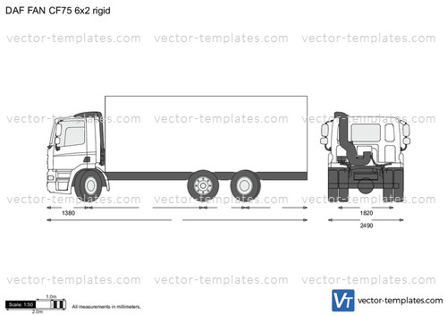 DAF FAN CF75 6x2 rigid