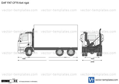 DAF FAT CF75 6x4 rigid
