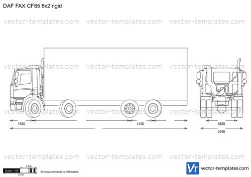 DAF FAX CF85 8x2 rigid