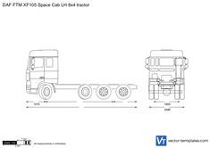 DAF FTM XF105 Space Cab LH 8x4 tractor
