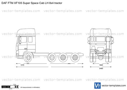 DAF FTM XF105 Super Space Cab LH 8x4 tractor