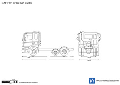 DAF FTP CF85 6x2 tractor