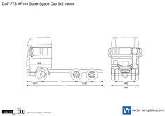 DAF FTS XF105 Super Space Cab 6x2 tractor