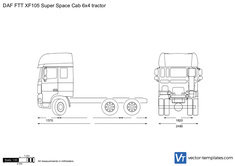 DAF FTT XF105 Super Space Cab 6x4 tractor
