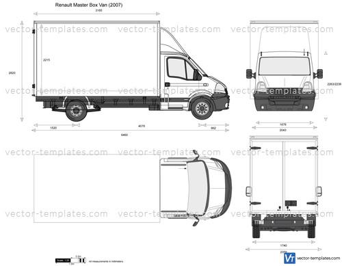 Templates Cars Renault Renault Master Box Van