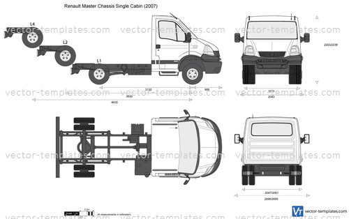 Templates Cars Renault Renault Master Chassis Single