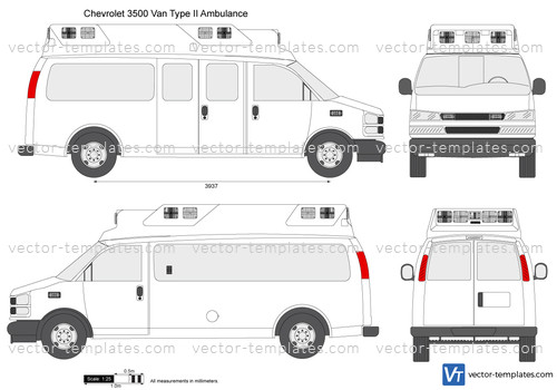 Chevrolet Express 3500 Van Type II Ambulance