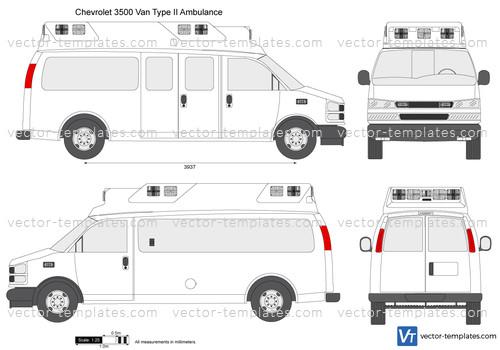 Templates - Cars - Chevrolet - Chevrolet Express 3500 Van ...