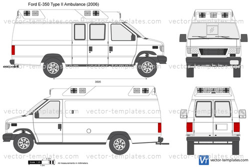 Templates - Cars - Ford - Ford E-350 Type II Ambulance