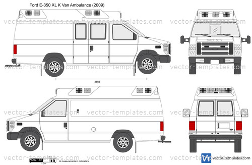 templates cars ford ford   xl  van ambulance