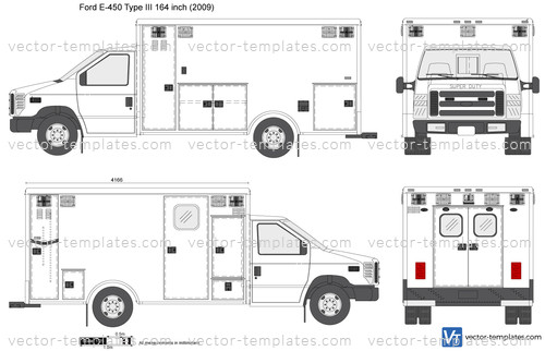 Ford E-450 Type III 164 inch