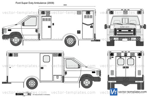 Ford Transit 350 >> Templates - Cars - Ford - Ford Super Duty Ambulance