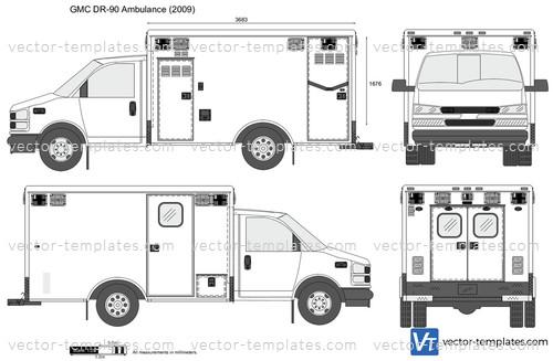 templates cars gmc gmc dr  ambulance