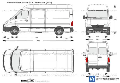 Mercedes Sprinter  Mid Wheelbase Body Dimensions
