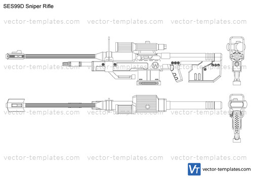 templates weapons rifles srs99d sniper rifle