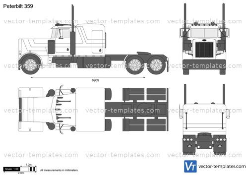 Templates - Trucks - Peterbilt