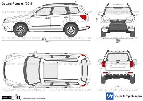 Templates - Cars - Subaru