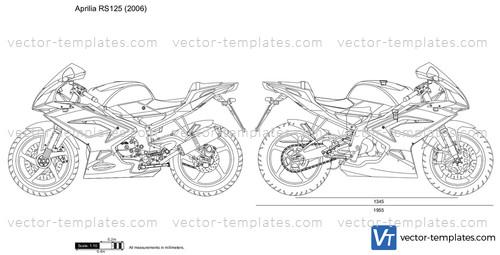 templates - motorcycles - aprilia