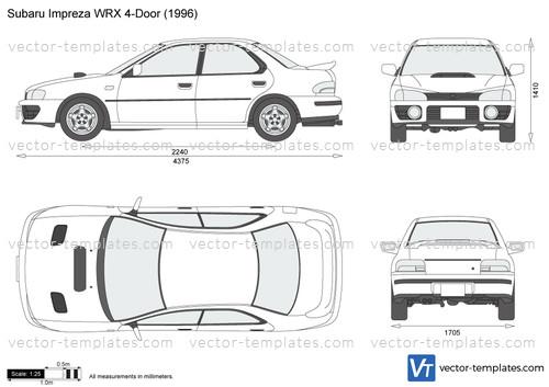 2005 Subaru Impreza Wrx >> Templates - Cars - Subaru - Subaru Impreza WRX 4-Door