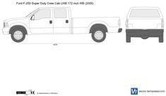 Ford F-250 Super Duty Crew Cab LWB 172 inch WB