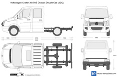 Volkswagen Crafter 30 SWB Chassis Double Cab