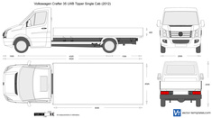 Volkswagen Crafter 35 LWB Tipper Single Cab