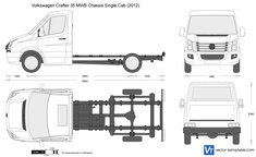 Volkswagen Crafter 35 MWB Chassis Single Cab