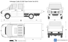 Volkswagen Crafter 35 SWB Tipper Double Cab