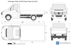 Volkswagen Crafter 35 SWB Tipper Single Cab
