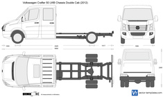 Volkswagen Crafter 50 LWB Chassis Double Cab