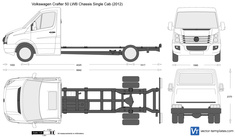 Volkswagen Crafter 50 LWB Chassis Single Cab