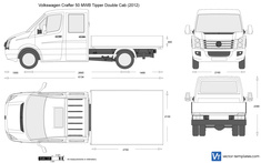 Volkswagen Crafter 50 MWB Tipper Double Cab