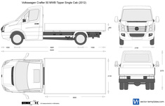 Volkswagen Crafter 50 MWB Tipper Single Cab