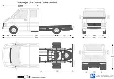 Volkswagen LT 46 Chassis Double Cab MWB