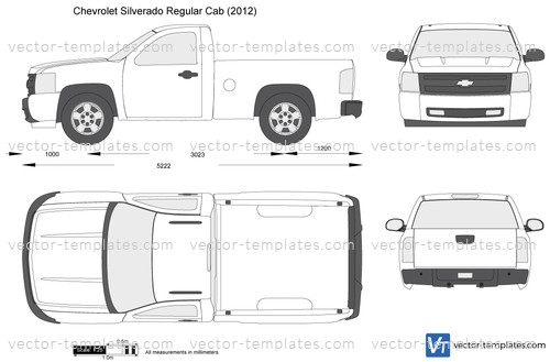 Templates - Cars - Chevrolet - Chevrolet Silverado Regular Cab
