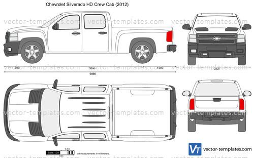 Templates Cars Chevrolet Chevrolet Silverado Hd Crew Cab