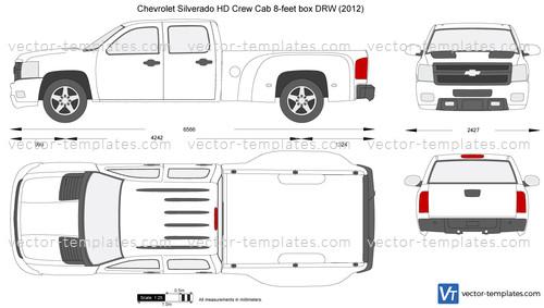 Chevrolet Silverado HD Crew Cab 8-feet box DRW