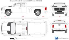 Chevrolet Silverado HD Extended Cab 8-feet box DRW