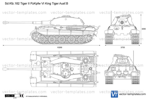 Sd.Kfz. 182 Tiger II Pz.Kpfw. VI King Tiger Ausf.B