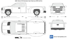 GMC Sierra HD Extended Cab 8-feet box DRW